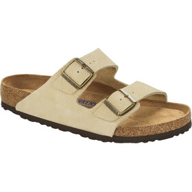 Birkenstock Arizona Sandals Nubuck Leather Soft Footbed Regular Men, almond
